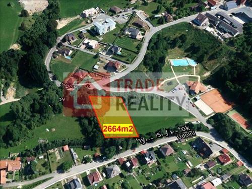 komerční pozemek 2664m2, Chýnov u Tábora